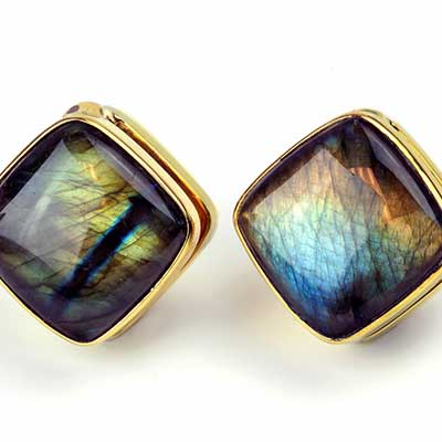 Solid Brass Cubix Weights with Labradorite