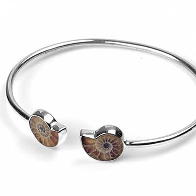 Silver and Ammonite Bracelet