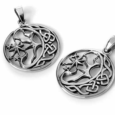 Silver Celtic Nebula Pendant