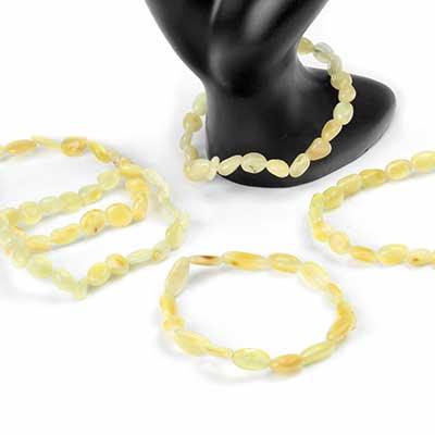 Butterscotch Amber Bead Bracelet