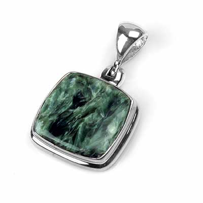 Silver and Seraphinite Pendant