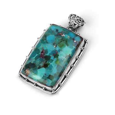 Silver and Kingman Turquoise Pendant