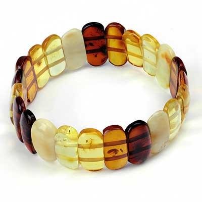Mixed Amber Bead Bracelet