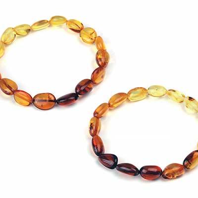 Mixed Amber Sunset Bracelet