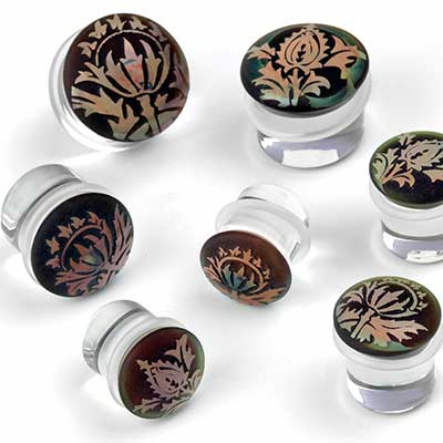 Glass Single Flare Torian Plugs