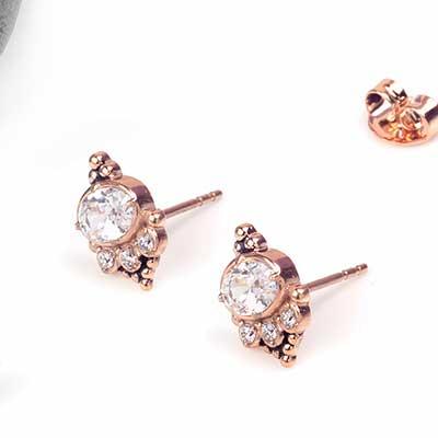 Opulent Gem Stud Earrings