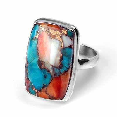 Turquoise with Spiny Oyster Ring