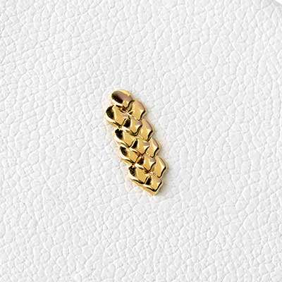 14k Gold Dragon Skin Threadless End