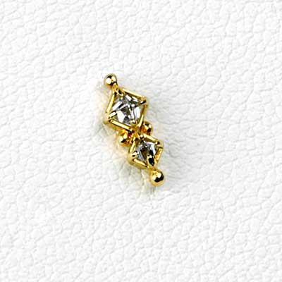 14K Gold Twilight Threadless Ends