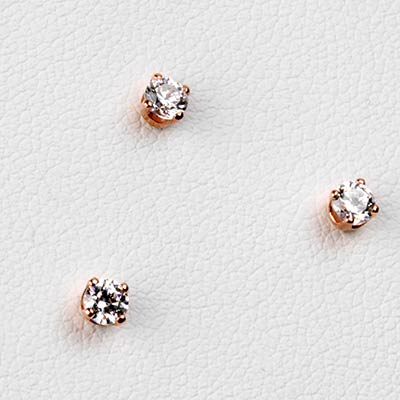 14K Gold Prong Set Gem Threadless End