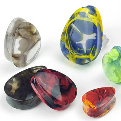 Glass Teardrop Power Plugs