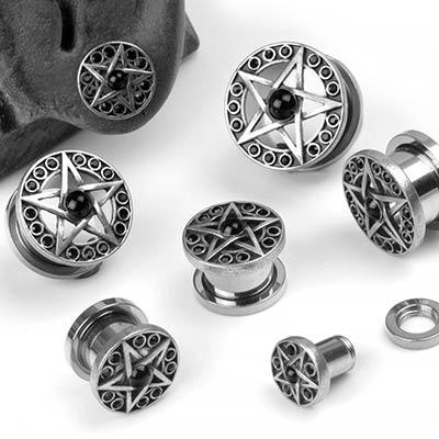 Steel Pentagram Eyelets