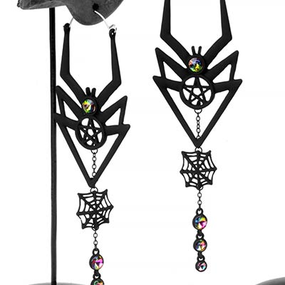 Black Widow Dangle Earrings