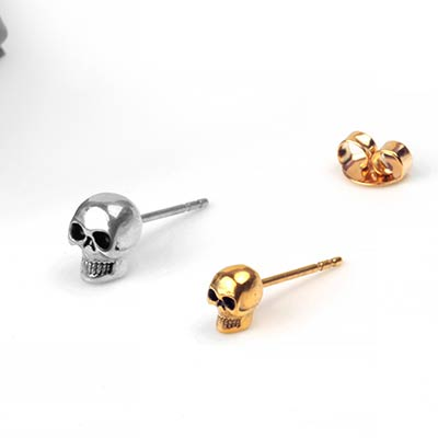 Steel Skull Stud Earrings