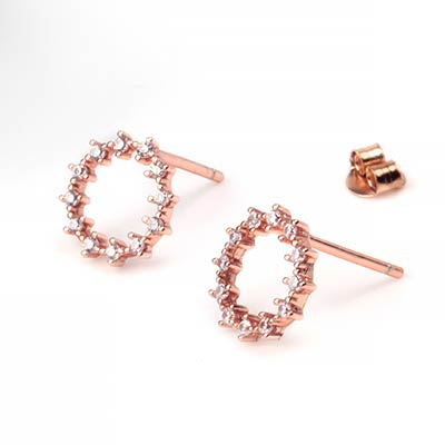 Gemmed Halo Stud Earrings