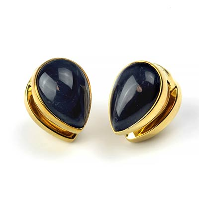 Solid Brass Spade Weights with Blue Tiger Eye