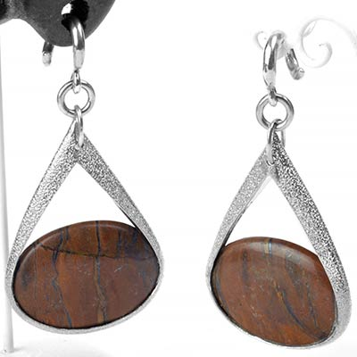 Silver and Tiger Eye Pendulum Weights