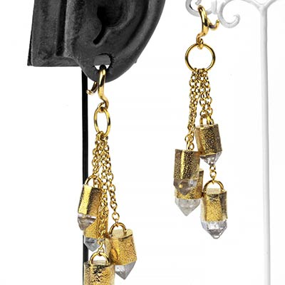 Solid Brass and Tibetan Crystal Dangle Weights