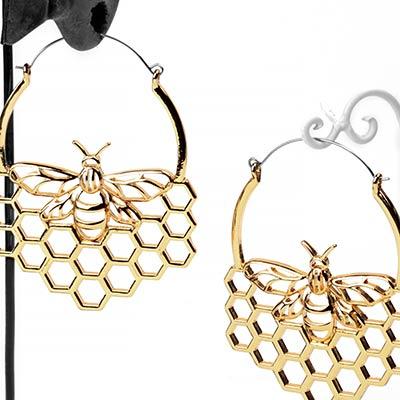 Queen Bee Hoop Earrings