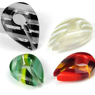 Glass Linear Keyhole Weights