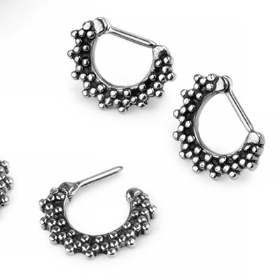 Steel Beaded Septum Clicker