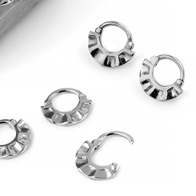 Steel Rippled Fan Septum Clicker