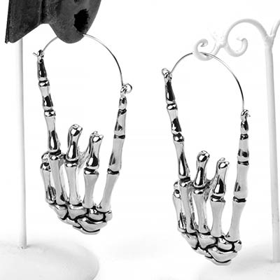 Steel Death Metal Earrings