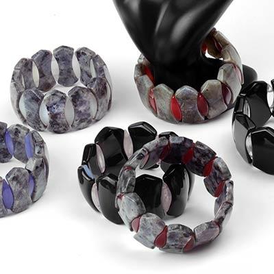 Chunky Mixed Stone Bead Bracelet