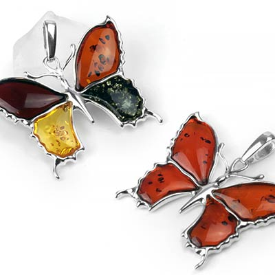 Butterfly Amber Pendant
