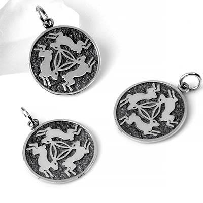 Silver Three Rabbits Pendant