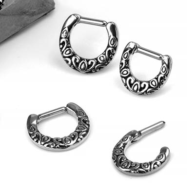 Steel Embellished Septum Clicker