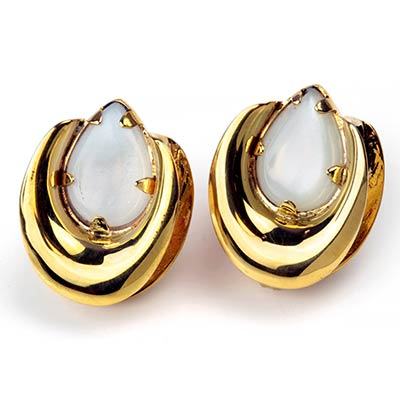Brass Saddles with Moonstone