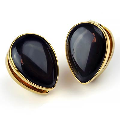 Solid Brass Spade Weights with Rainbow Obsidian