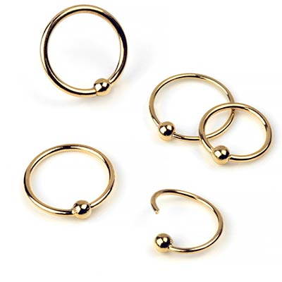14k Gold Fixed Bead Rings