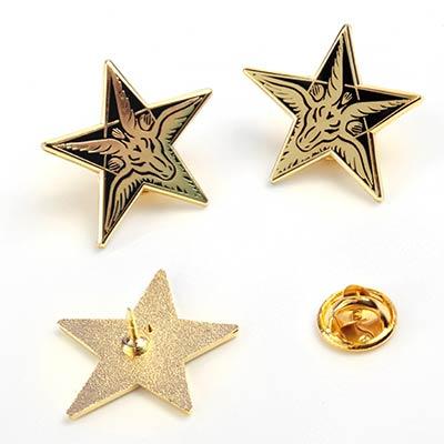 Baphomet Star Pin