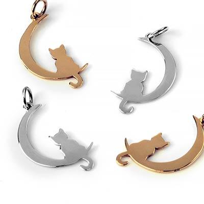 Lunar Kitty Pendant