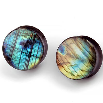 Labradorite Double Flare Plugs
