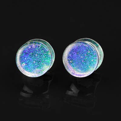 Glass Blue and Green Trichroic Plugs