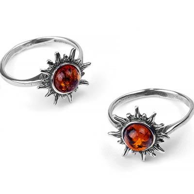 Amber Sunburst Ring