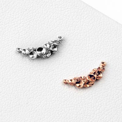14K Gold Neptune Threadless Ends