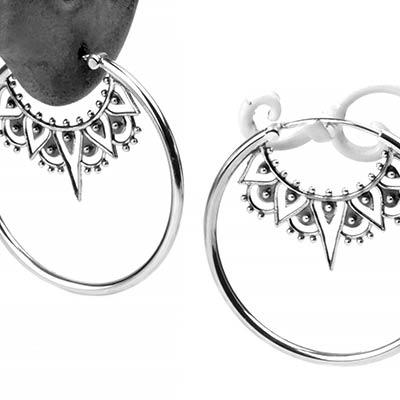 Inner Peace Hoop Earrings