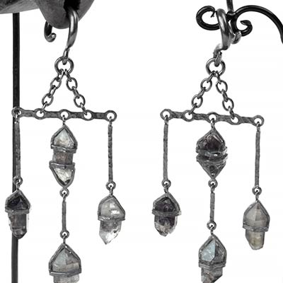 Silver and Tibetan Quartz Dangle Weights