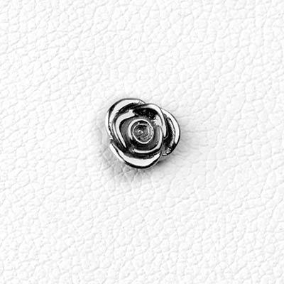 14K Gold Rose Threadless Ends