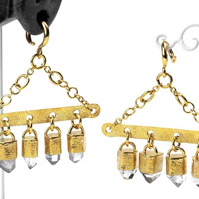 Solid Brass and Tibetan Crystal Mobile Dangle Weights
