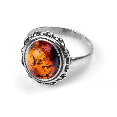 Blooming Amber Ring