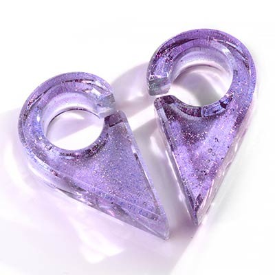 Deluxe Dichroic Triangle Weights in Lavender Gold
