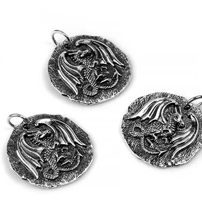 Silver Dragon Medallion