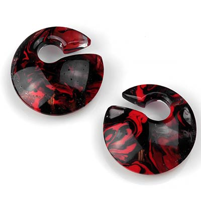 Glass Mini Eclipse Weights in Black and Red