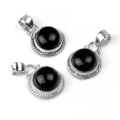 Dainty Black Onyx Pendant