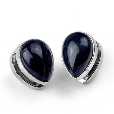 Solid White Brass Spade Weights with Blue Tiger Eye